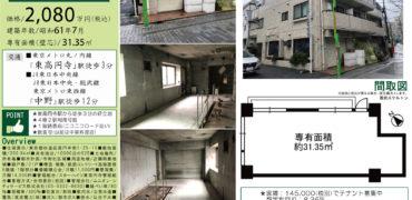 7/18 新規 スターハイツ東高円寺104号室